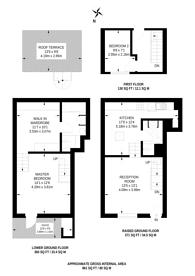 Large floorplan for Delorme Street, Hammersmith, W6