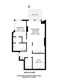 Large floorplan for Embassy Gardens, Nine Elms, SW8