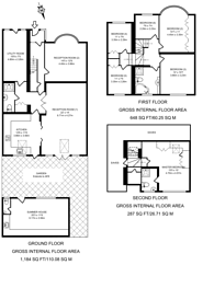 Large floorplan for Wood End Avenue, South Harrow, HA2