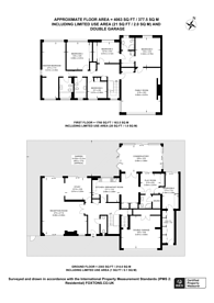 Large floorplan for Lord Chancellor Walk, Kingston, KT2