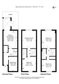 Large floorplan for Elder Place, South Croydon, CR2