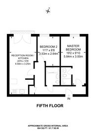 Large floorplan for Deals Gateway, Lewisham, SE13