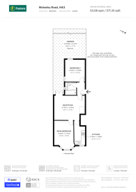 Large floorplan for Wolseley Road, Harrow, HA3