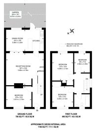 Large floorplan for Daniels Road, Nunhead, SE15
