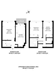 Large floorplan for Pinter House, Stockwell, SW9