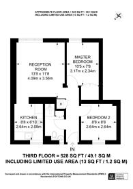 Large floorplan for Cheylesmore House, Pimlico, SW1W