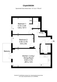 Large floorplan for Hatton Road, Alperton, HA0
