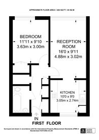 Large floorplan for St Helier Court, Islington, N1