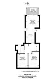 Large floorplan for Latchmere Road, Clapham Junction, SW11