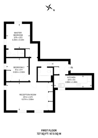 Large floorplan for Cambridge Park, East Twickenham, TW1