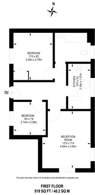 Large floorplan for Dewar Street, Peckham Rye, SE15