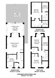 Large floorplan for Springfield Road, KT17, Ewell East, KT17