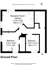 Large floorplan for Scholars Court, Guildford, GU1