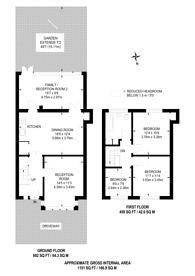Large floorplan for Ridge Road, Mitcham, CR4