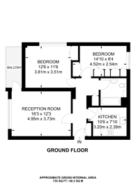 Large floorplan for Kilburn Vale, Kilburn, NW6