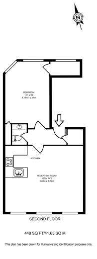 Large floorplan for Red Lion Street, Holborn, WC1R