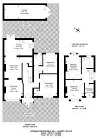 Large floorplan for Marlow Drive, SM3, Sutton, SM3