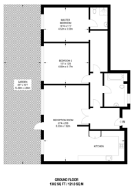 Large floorplan for Varcoe Road, South Bermondsey, SE16
