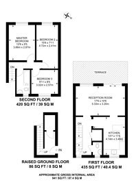 Large floorplan for Rochford Walk. E8, London Fields, E8