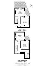 Large floorplan for Dawes Road, SW6, Fulham, SW6
