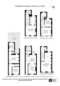 Large floorplan for Westmoreland Place, Pimlico, SW1V