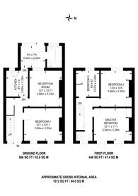Large floorplan for Belle Vue Cottages, Guildford, GU1