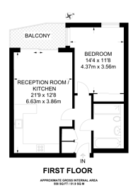 Large floorplan for Water Lane, Kingston, KT1