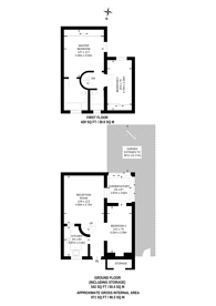 Large floorplan for Heads Mews, Notting Hill, W11