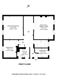 Large floorplan for Thornton Hill, Wimbledon, SW19