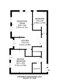 Large floorplan for Sundridge Avenue, Sundridge Park, BR1