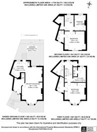 Large floorplan for Cremorne Road, Chelsea, SW10
