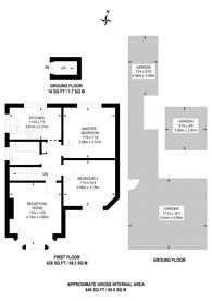 Large floorplan for Eton Avenue, North Wembley, HA0