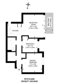Large floorplan for Bloomsbury Close, Ealing, W5