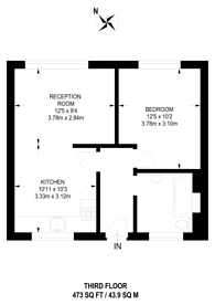 Large floorplan for Gray's Inn Road, Bloomsbury, WC1X