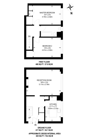 Large floorplan for Alpha Place, Kilburn, NW6