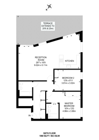 Large floorplan for Devan Grove, Stoke Newington, N4