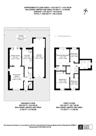 Large floorplan for Bishop Fox Way, West Molesey, KT8