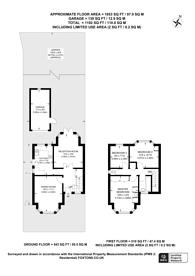Large floorplan for Ash Close, New Malden, KT3