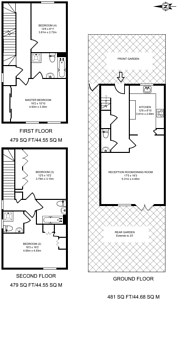 Large floorplan for Church Hill Road, East Barnet, EN4