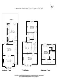 Large floorplan for Pember Road, Kensal Green, NW10