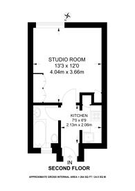 Large floorplan for Harrington Street, Regent's Park, NW1