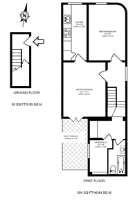 Large floorplan for Vassall Road, Brixton, SW9