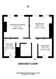 Large floorplan for Parkhurst Court, Islington, N7