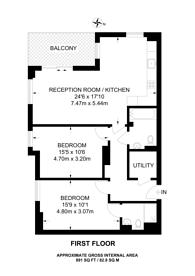 Large floorplan for Gayton Road, Harrow, HA1
