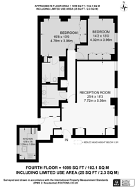 Large floorplan for Park Street, Mayfair, W1K