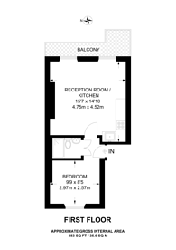 Large floorplan for Sutherland Place, Artesian Village, W2