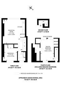 Large floorplan for Great Portland Street, Fitzrovia, W1W