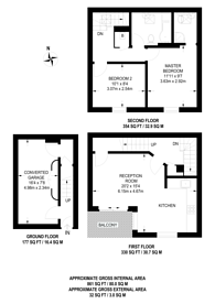 Large floorplan for Portland Square, Wapping, E1W