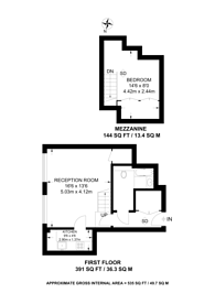Large floorplan for Frognal Rise, Hampstead, NW3