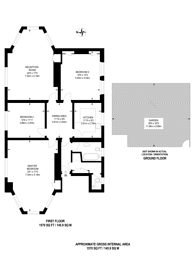 Large floorplan for Grove Park, Camberwell, SE5
